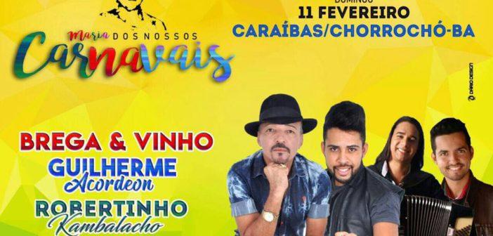 Programação do Tradicional Carnaval de Caraíbas-Chorrochó-BA