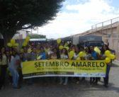 """Caminhada """"Setembro Amarelo"""" no Povoado do São José e na cidade de Chorrochó-BA."""
