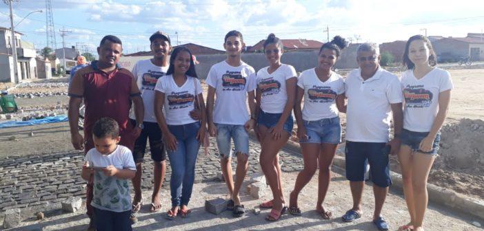 Prefeito visita as obras de pavimentação no Loteamento Sol do Sertão